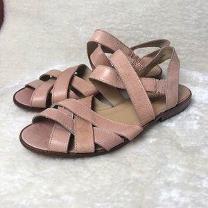*Vintage* Pink Leather Esprit Sandals